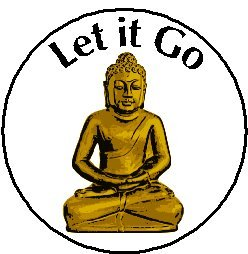 Let it Go - Buddha Magnet - Quote Saying Inspirational Life Proverb - Buddhism Yoga Meditate