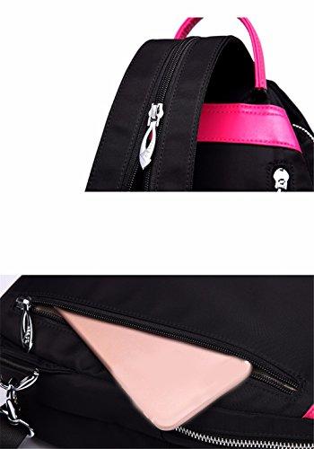 Oxford Bolso Pecho del Mochila Lona Diagonal JIUSHIGUANG Hombro 32Cm Femenino Que De Viajan Negro Bolsos 14 De La Compras Que Hace del Bolso 23 I7w4wSx