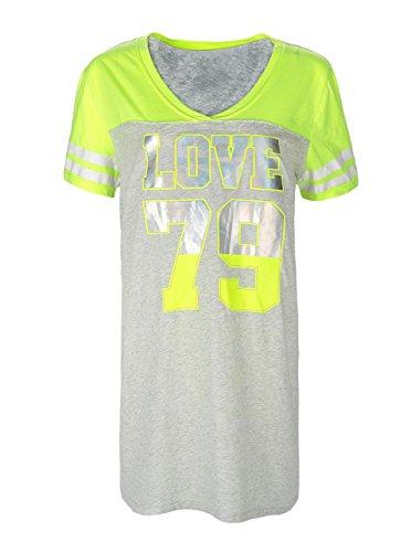 Women's Design V-Neck Night Shirt Tee 2X-Large