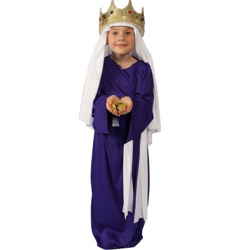 Purple Wiseman Child Costumes (Alexanders Costumes Story of Christ Biblical Gown Child Costume, Purple, Large)