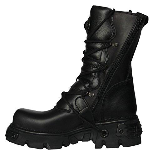 New Rock Stiefel Schwarz M.391 S.18 Punk Goth Rock Design Unisex Boots Rabat Preis