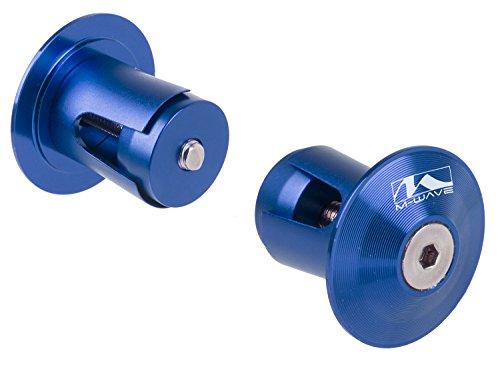 (M-Wave Alloy A-Rio Handlebar Plugs, Anodized Blue)