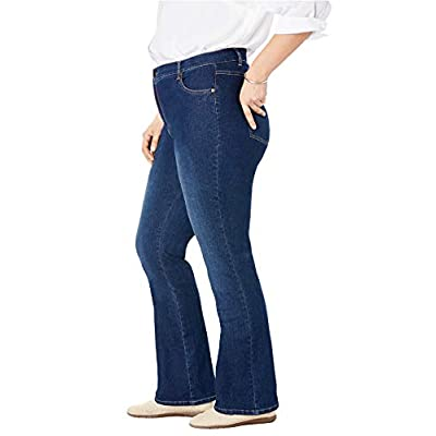 Woman Within Women's Plus Size Bootcut Stretch Jean at Women's Jeans store