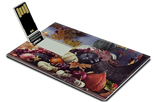 Luxlady 32GB USB Flash Drive 2.0 Memory Stick Credit Card Size Retro or vintage image of a Cornucopia or Horn of Plenty with fresh vegetables IMAGE 33386828 (Hello Kitty Fruit Arrangement)