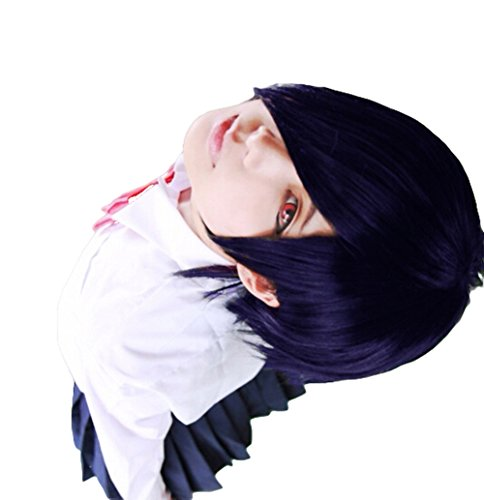 HH Building Tokyo Ghoul Toka Kirishima Anime Cosplay Wig Women's Short Straight Wig (Purple) -