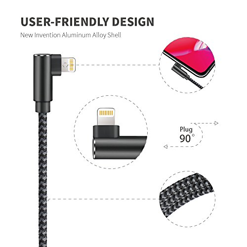 iPhone Charger Cable, Probably The World's Most Durable Cable, MFi Certified 3 Pack Compatible with iPhone Charger 12/11/Pro/Xs/XS Max/XR/X/8/8 Plus/7 Plus/7/6 Plus/6/5S/5/iPad (Black Gray, 6FT)