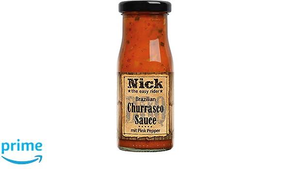 Nick Salsa de Churrasco Brasileño con Pimienta Rosa - Paquete de 12 x 140 ml - Total: 1680 ml: Amazon.es: Alimentación y bebidas