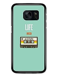 Cool Life is a Mixtape Cassette Inspirational Music Design carcasa de Samsung Galaxy S7