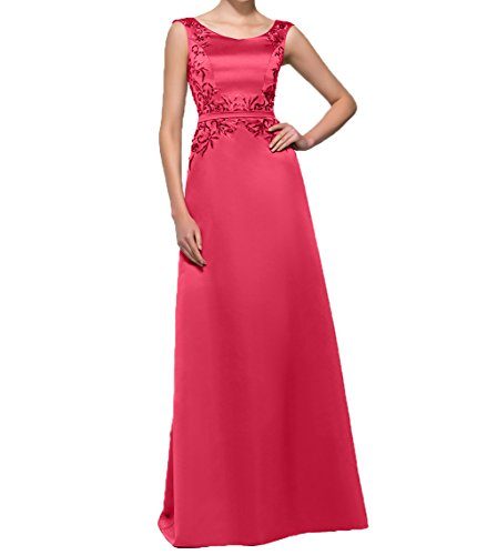Charmant Abendkleid Promkleider Ballkleider Elegant Etuikleider Partykleider Damen Langes Wassermelon Bodenlang Satin 6rx6fqg