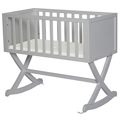 Great Features Of Dream On Me Haven Cradle, Pebble Grey