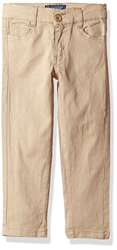CHEROKEE Big Girls' Uniform Stretch Twill Skinny Pant, Khaki 5 Pocket, 7