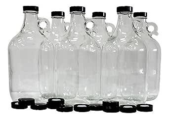 LOT of 16 Growler Metal Caps Fit 1//2-1 Gallon Jug Draft Beer White