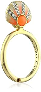 """Juicy Couture """"Creatures Of Paradise"""" Seashell Mini Wish Gold Ring, Size 7"""