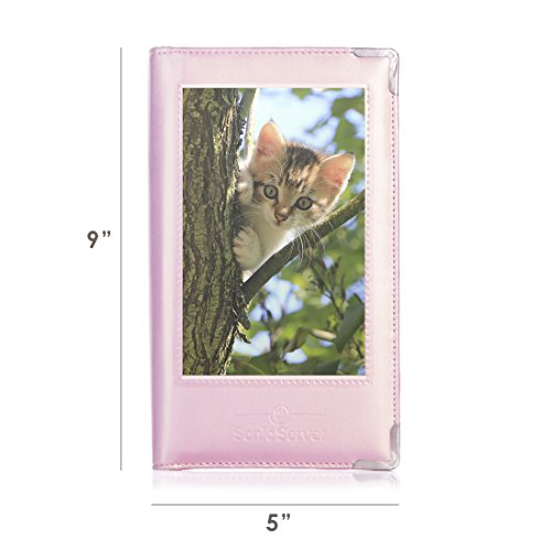 Sonic Server Book 5 x 9 Large Deluxe Organizer for Waiter Waitress  Waitstaff | 12 Pockets with Window for Customization | Millennial Pink |  Holds Long