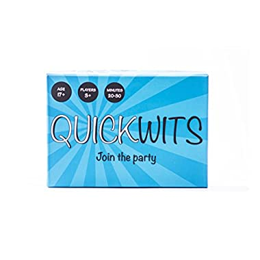 Quickwits Party Card Game -- A Fun and Social Adult Game