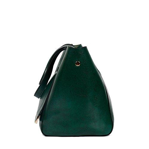 Bags Bags Tote Dark Bags Women Bags Handbags Shoulder Leather Green Large Traveling Capacity PU Ephraim Shopping CqEPRw4