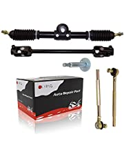 FLYPIG Go Kart Steering Shaft Tie Rods Rack Kit 110cc - 140cc Adjustable Shaft