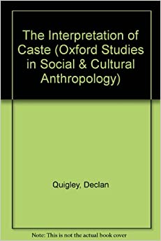 Book The Interpretation of Caste (Oxford Studies in Social and Cultural Anthropology)
