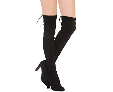 a84a9e2a4b1 Amazon.com: Stuart Weitzman Highland Black Suede Over-The-Knee Boot ...