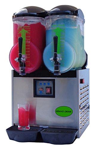 Brand : Bravo Italia , 2 Bowl Slush Machine 1.3 gallon each bowl ,Margarita Machine,Slushie Maker , Frozen...