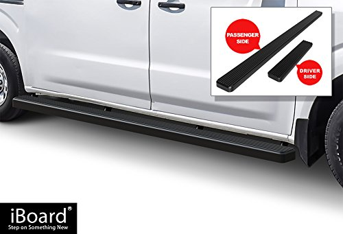 APS iBoard Running Boards (Nerf Bars | Side Steps | Step Bars) for 2012-2018 Nissan NV 1500/2500/3500 Full Size Van | (Black Powder Coated 5 inches)