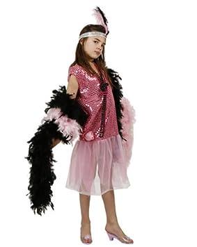 Desconocido Disfraz rosa de charlestón para niña: Amazon.es ...
