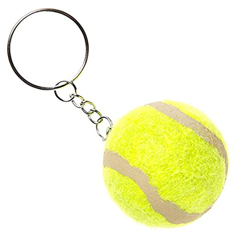 Unbekannt 12 llavero pelota de tenis amarillo 4,5 cm Ball ...
