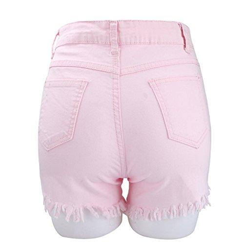 Vita Donna Spiaggia Della A Caldi Delle Strappati Donne Jeans Ashop Rosa Skinny Alta Pantaloncini Sexy Jeans Dei rxvnrB0q