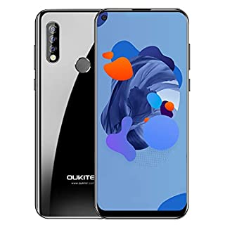 Unlocked Smartphone OUKITEL C17 Pro, 6.35 Inch HD+ Full Screen, 64GB + 4GB RAM, Global 4G LTE Cell Phones, Dual SIM, 3900 mAh Battery, Triple Camera, Android 9.0 Mobile Phone, Face ID, Type-C - Black