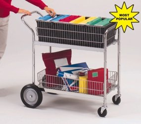 Charnstrom Medium Wire Basket Mail Office Cart (M106) by Charnstrom