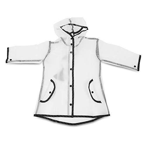 Heroine & you New Cute Hooded Tassel Raincoat Children Transparent Rainsuit (m)