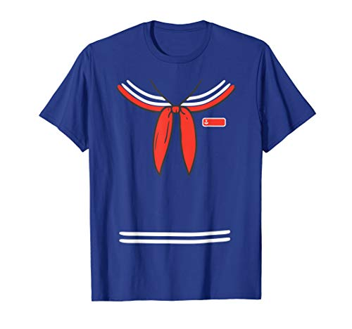 Sailor Boy Seaman Ahoy Cosplay Costume Easy Halloween 2019 T-Shirt (Best Cosplay Costumes 2019)