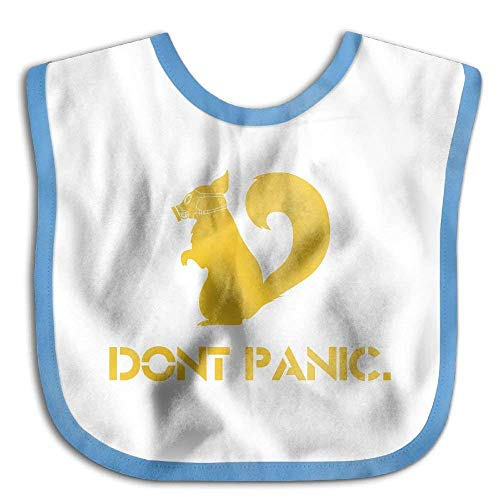n Polyester,Children Burp Cloths Don't Panic Gas Mask Squirrel Casual Baby Bibs Super Absorbent Drool Bibs ()