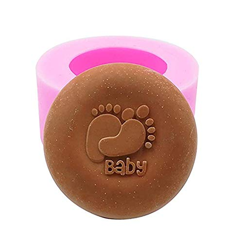 (Great Mold Cute Baby Foot Soap Mold for DIY Handmade Silicone Soap Chocolate Mold Cake Decoration Mold Candy Mold for Baby Shower Birthday Party)