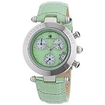 Constantin Durmont CD-VISL-QZ-LT-STST-GR - Women's Wristwatch , Leather, color: verde