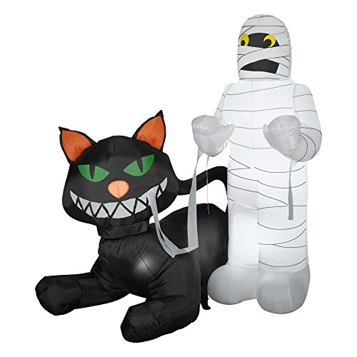 Mummy Cat Prop (Gemmy Airblown Animated Cat Eating Mummy Inflatable)