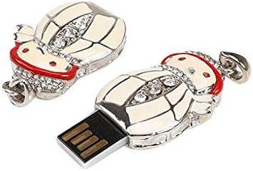 Lyperkin Christmas Crystal Christmas Litter Snowman 8GB-128GB USB Flash Drive USB 2.0 Thumb Drives Jump Drive Fold Storage Memory Stick Storage Key Pen U Disk.