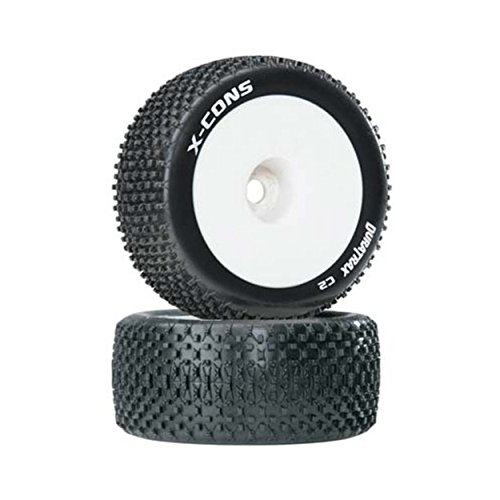 Duratrax X-Cons 1:8 Scale Truggy Tires with Foam Inserts, C2 Soft Compound, Mounted on 1/2