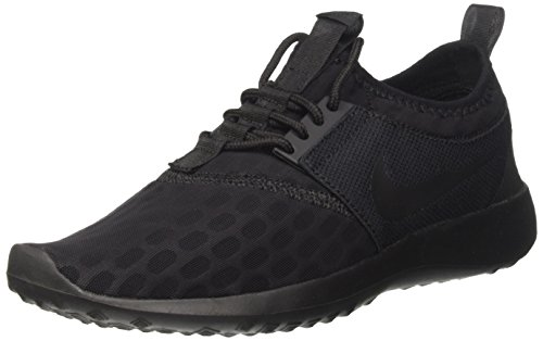NIKE Women's Juvenate Sneaker, Black/Black White, 7 B US