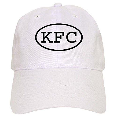 CafePress KFC Oval Cap Baseball Cap with Adjustable Closure, Unique Printed Baseball Hat White (Kfc Hat)