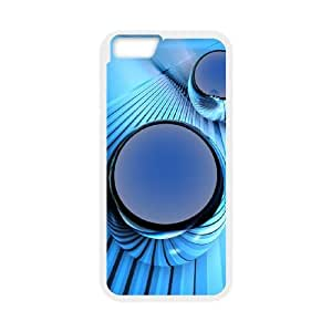 Blue Art iPhone 6 Plus 5.5 Inch Cell Phone Case White AMS0663651