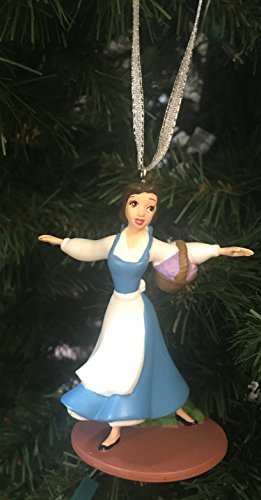 Disney Beauty & the Beast Singing Belle Princess Christmas Tree PVC Ornament 3