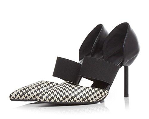 Aisun Womens Sexy Strappy Slip On Pumps Stiletto High Heels Shoes White Q7Anc6AJ