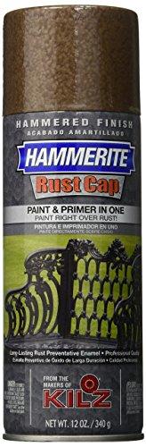 Masterchem Industries 41120 Hammerite Rust Cap Hammered Enamel Finish, 12 Oz Aerosol Can, 18 Sq.-Ft/Gal, Brown