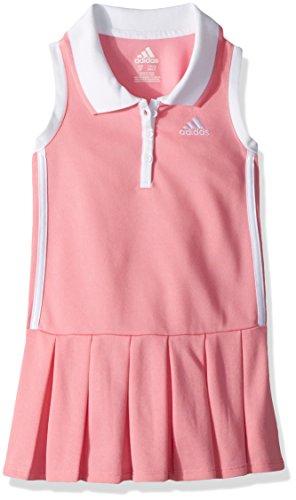 adidas Little Girls' Yrc Active Polo Dress, Peony Blush, 6