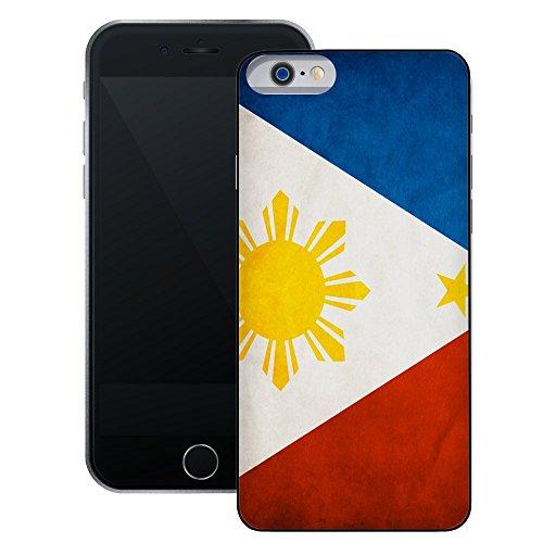 Philippinen Flagge | Handgefertigt | iPhone 6 6s (4,7') | Schwarze Hülle