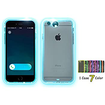 Feceir Apple iPhone 5/5s/se Case - LED Flash Case 9 Color in 1 Case, Creative LED Light up Incoming Call Flash Cover Anti-Scratch Clear Back Case ( iPhone 5/5s/se)