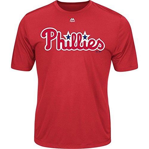 - Majestic Men's Cool Base MLB Evolution Shirt Philadelphia Phillies Large