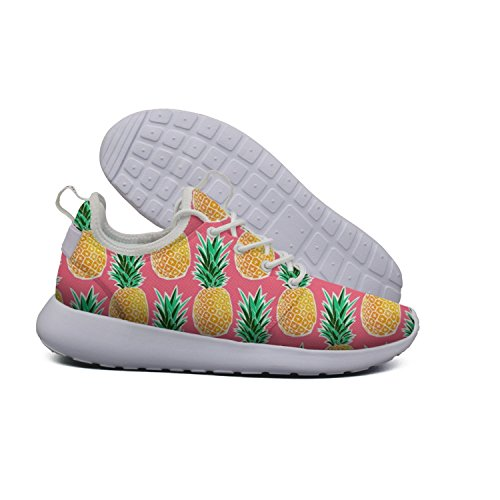 Euixo Tropical Pineapple Pink Geometric lightweight sneakers for women Trail Running Fashion by Euixo