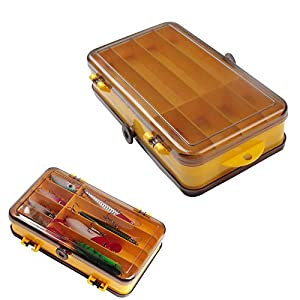 Seully 2 Pcs Fishing Accessories Storage Boxes,Double Sided Fishing Lure Hook Box/Fishing Terminal...